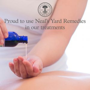 Proud to use Neals Yard Remedies